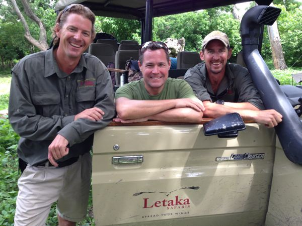 Jeff Corwin in the Okavango